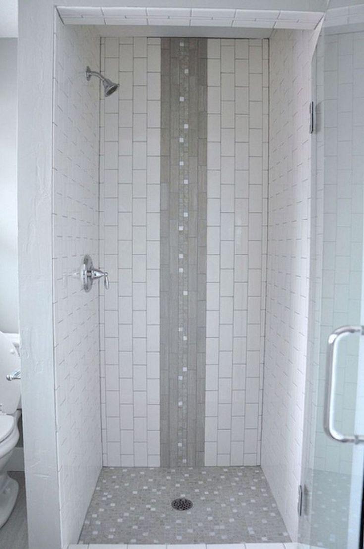 100+ Best Subway Tile Shower Designs Ideas #bathro…