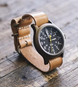 Military Leather Watch Band
