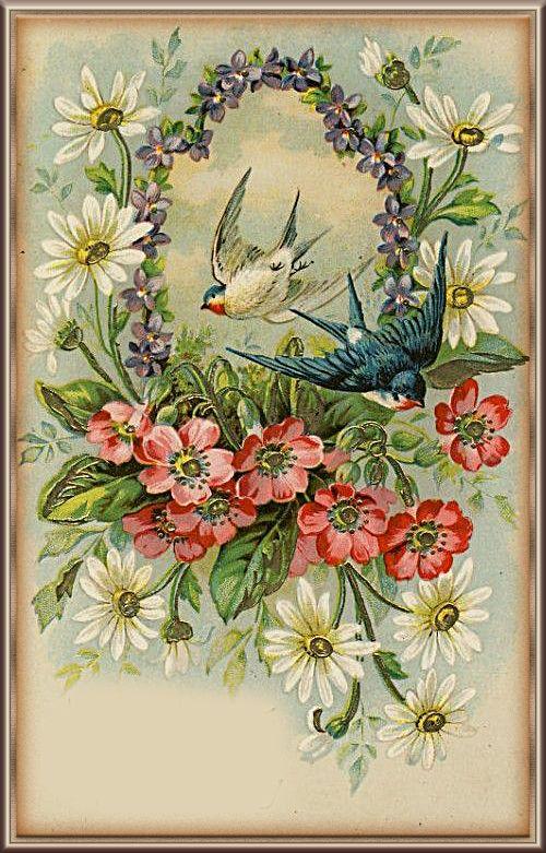 Открытки цветов ретро