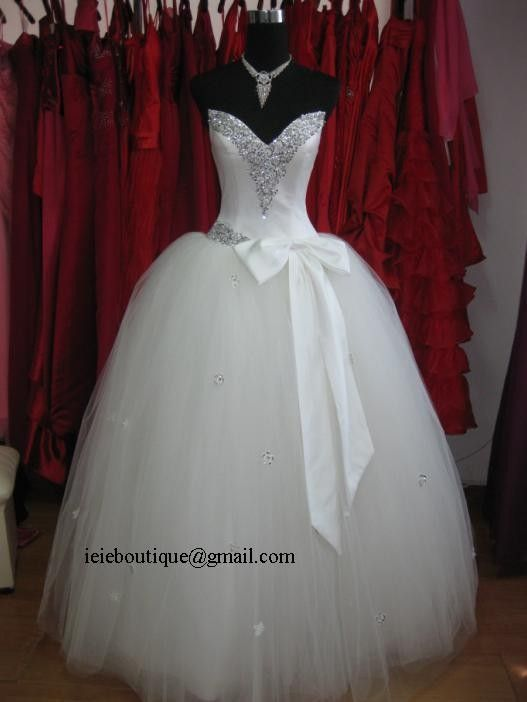 Pnina Tornai Inspired Tulle Ball Gown Wedding Dress by ieie, $399.00