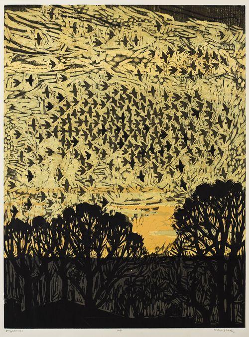 Migration, Kent Ambler, woodcuts of birds