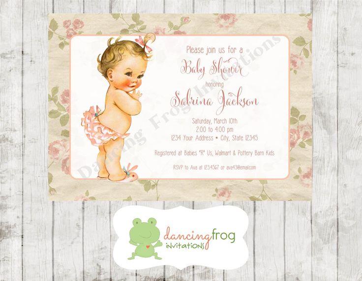Vintage, Antique Baby Shower Invitation - Printed Vintage Baby Shower Invitation by Dancing Frog Invitations by DancingFrogInvites on Etsy https://www.etsy.com/listing/219915078/vintage-antique-baby-shower-invitation