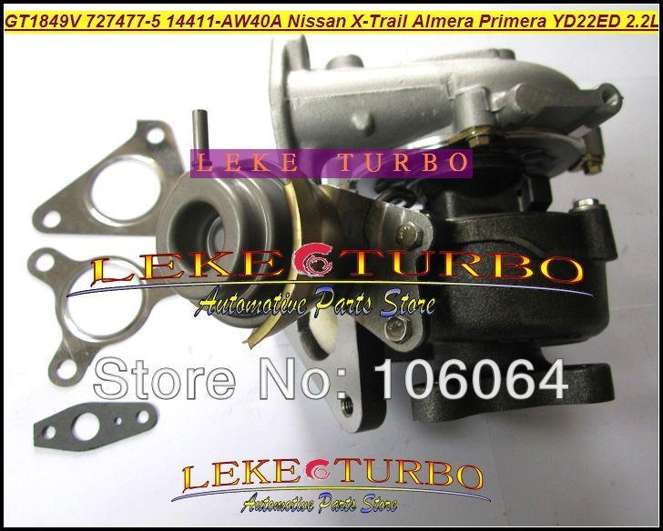 427.24$  Buy now - http://ali7hz.worldwells.pw/go.php?t=32645634785 - Free Ship Turbo GT1849V 727477-5006S 727477-5007S Turbocharger For NISSAN X-Trail T30 Almera Primera 2003-2005 YD22ED YD1 2.2L
