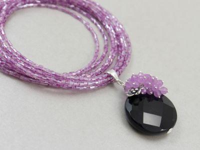 Onyks, jadeit, srebro, wisiorek - ChileArt - ChileArt - Sklep internetowy z biżuterią artystyczną