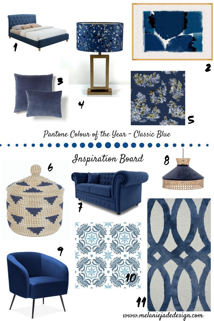 Pantone Colour Of The Year 2020 Classic Blue Blue Cushions