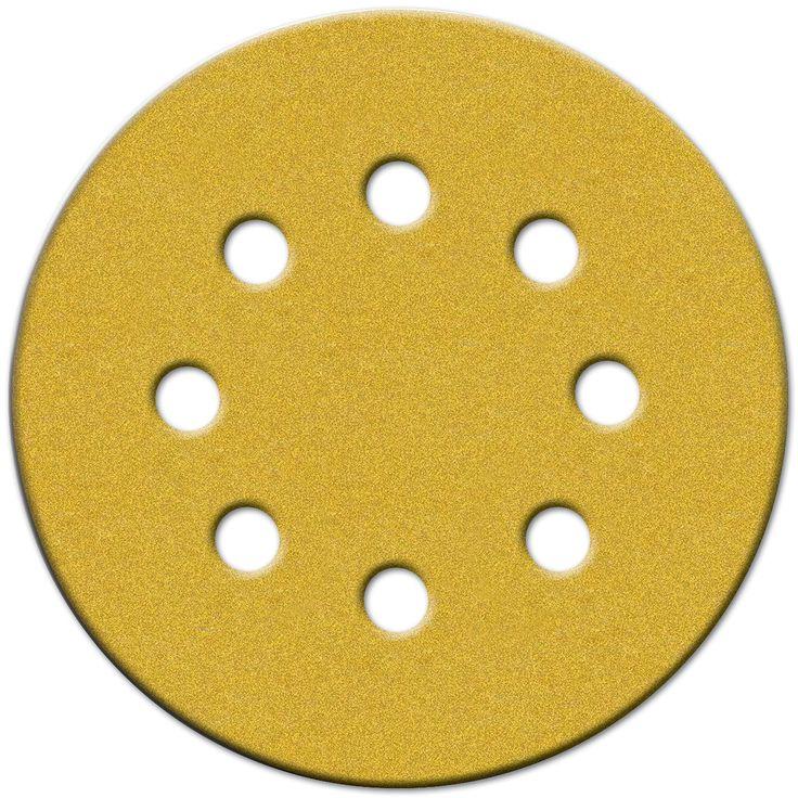 """Norton 49155 5"""" 220 Grit Very Fine Hook & Loop Sanding Discs 4-count"""