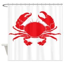 Crab Shower Curtain For