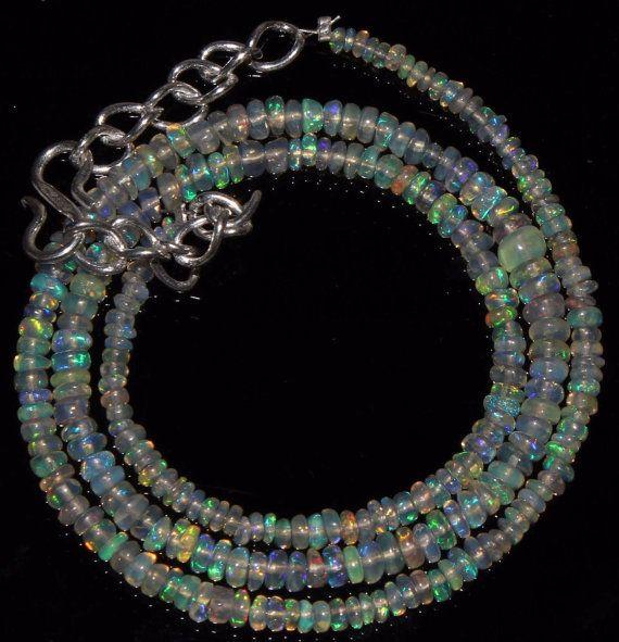 Ethiopian opal Welo Ethiopian Opal Rondelles by alifaarts on Etsy