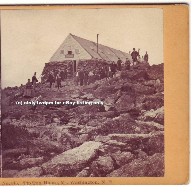 MT WASHINGTON NH 1860s Tip Top House STEREOVIEW Soule PHOTO 516 US