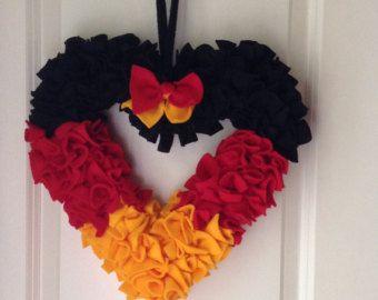 German Flag Wreath, German Heritage, German Flag, Heart Wreath, Deutsche Flagge, Schwarz Rot Gold - Edit Listing - Etsy