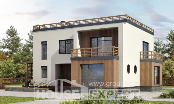 215-002-L Projekt domu dwukondygnacyjnego, klasyczny dom z bloczków silikatowych, Bydgoszcz