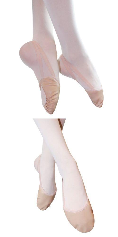 6b51a5aff4bd Dance Shoes 175639  Danzcue Adult Half Sole Leather Ballet Dance ...