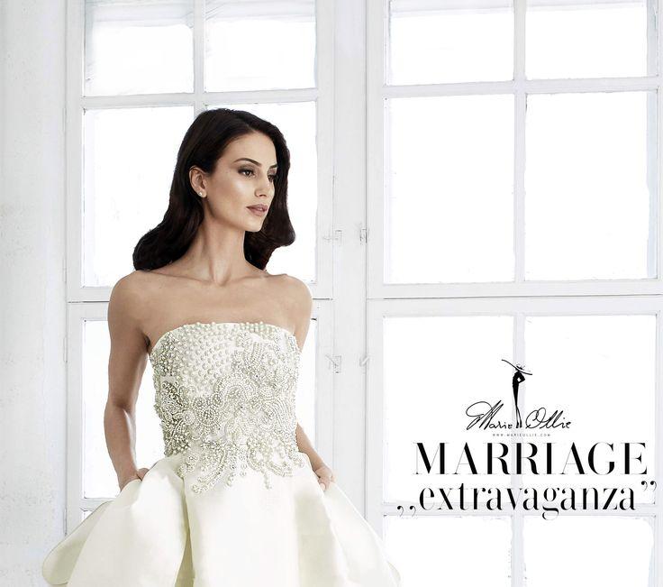 """Marriage ,,extravaganza"""" wedding dress, Marie Ollie, details"""