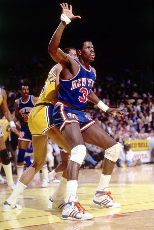 Patrick Ewing- 1986 posting up Kareem