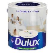 Dulux Silk White Chiffon 2.5L This Dulux White Chiffon Paint offers a luxurious silk type of paint as well as unique colour protection in a wipe clean delicate shine finish. A tester pot is available to see whether the paint is ri http://www.comparestoreprices.co.uk/paint/dulux-silk-white-chiffon-2-5l.asp