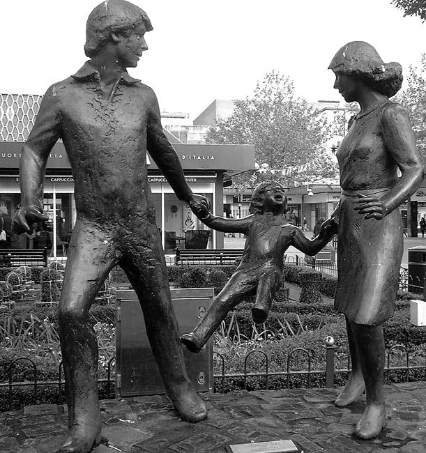 Statues around Birmingham, UK – Mell Square, Solihull