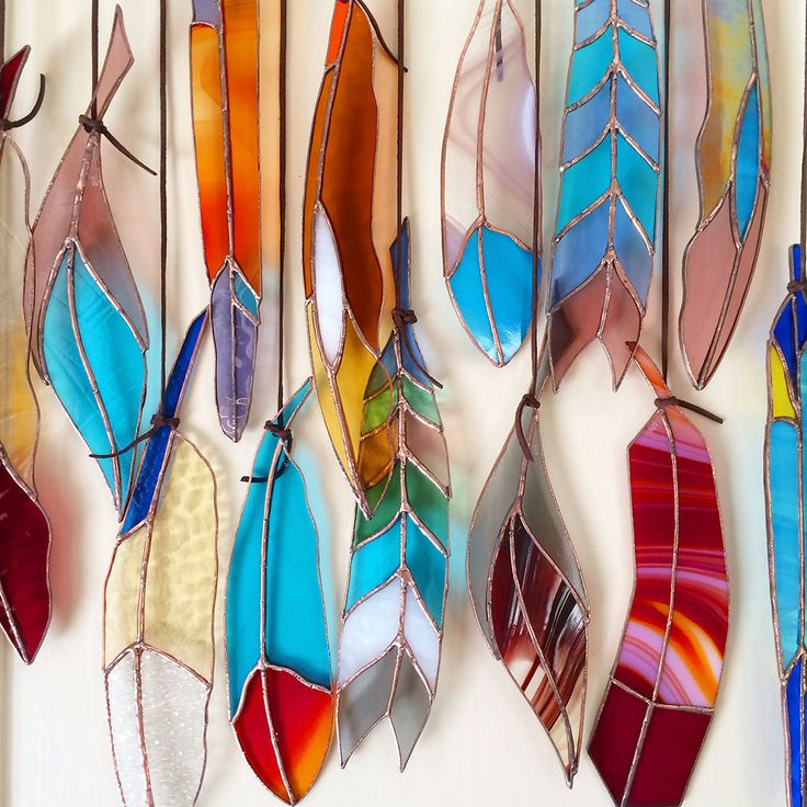 inspiration only, beautiful stained glass feathers from Colin Adrian Glass