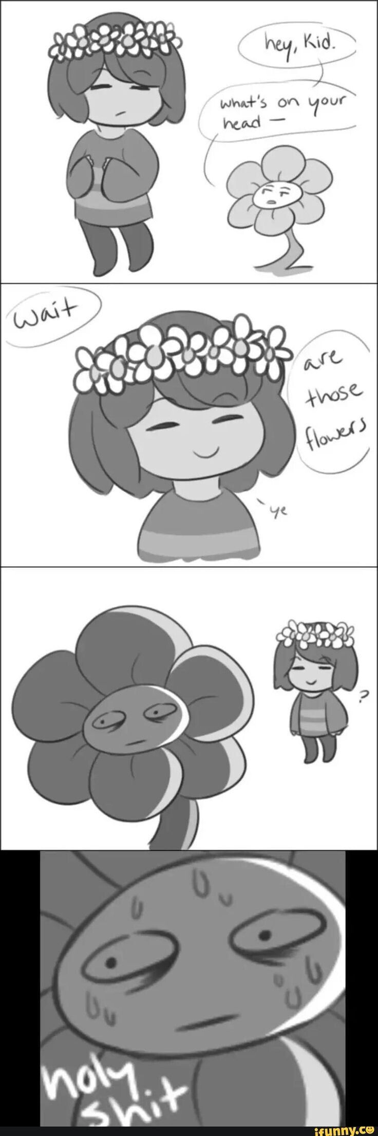 Flowey has been scarred for life lmao
