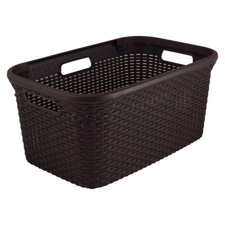 Curver 45L Plastic Rectangular Laundry Basket - Brown : Target