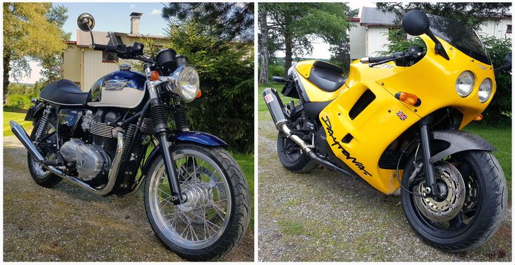 My two bikes at the house