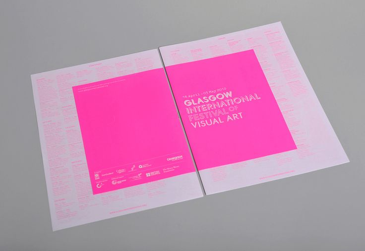 identity for Glasgow International Festival of Visual Art / by Joseph Burrin (at Marque with Barry Smith & Nick Tweediet)