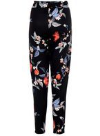 Womens *Quiz Multi Coloured Floral Print Tapered Leg Trousers- Multi