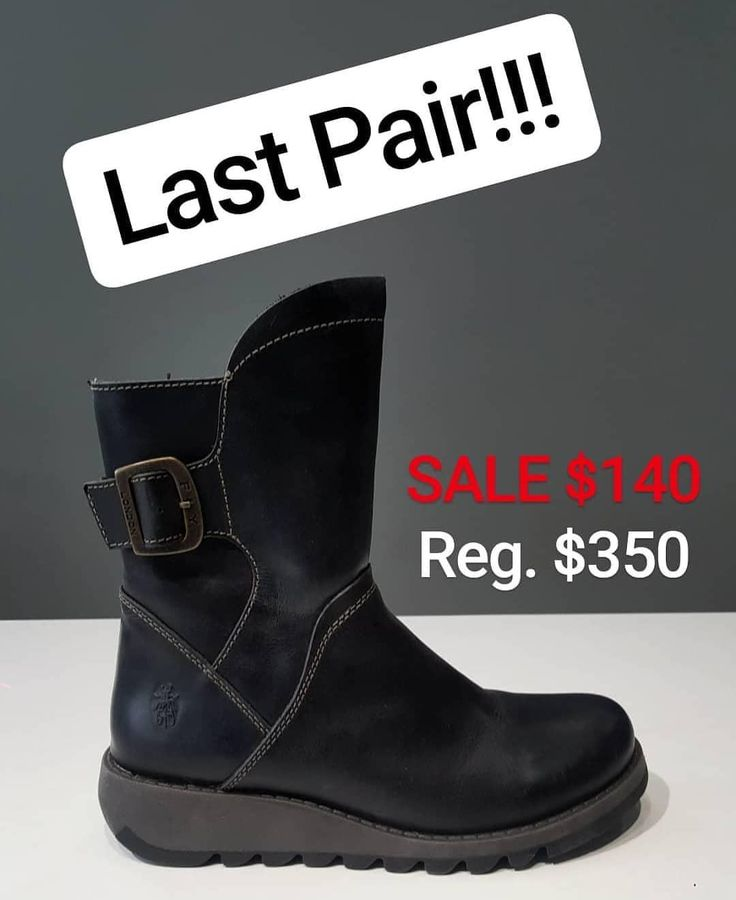 Fly London last pair boots - 60% OFF! size 39 (8.5/9). Get em on sale for $140 at our Windermere location