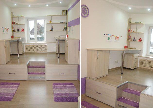 Подиум в детской комнате   http://www.babyroomblog.ru/