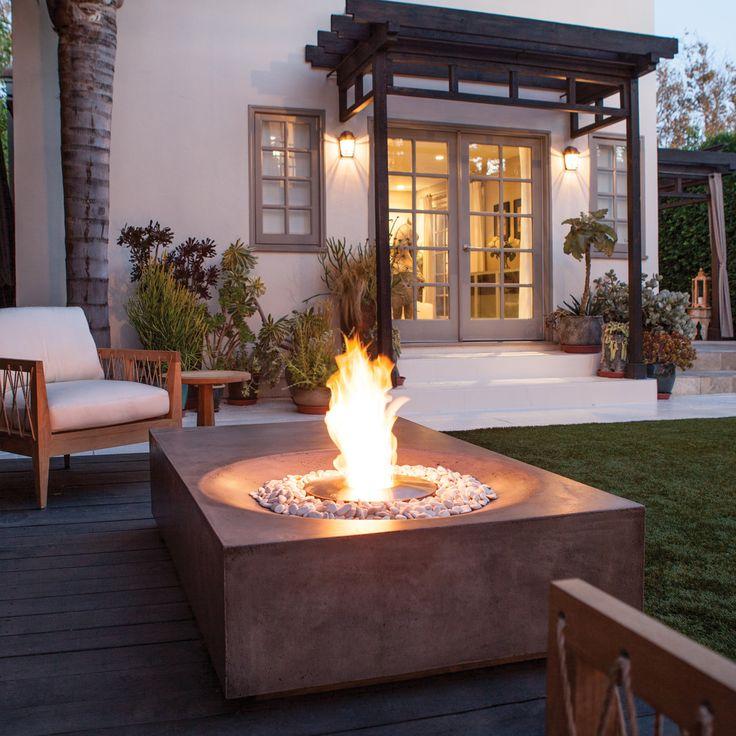Brown jordan fires equinox fire pit coffee table