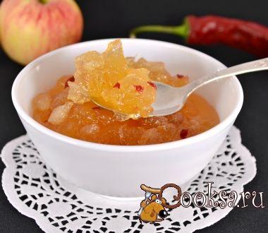 Яблочный конфитюр с острым перцем чили