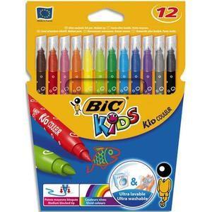12 feutres bic kid couleur lavables fournitures scolaires pas cher