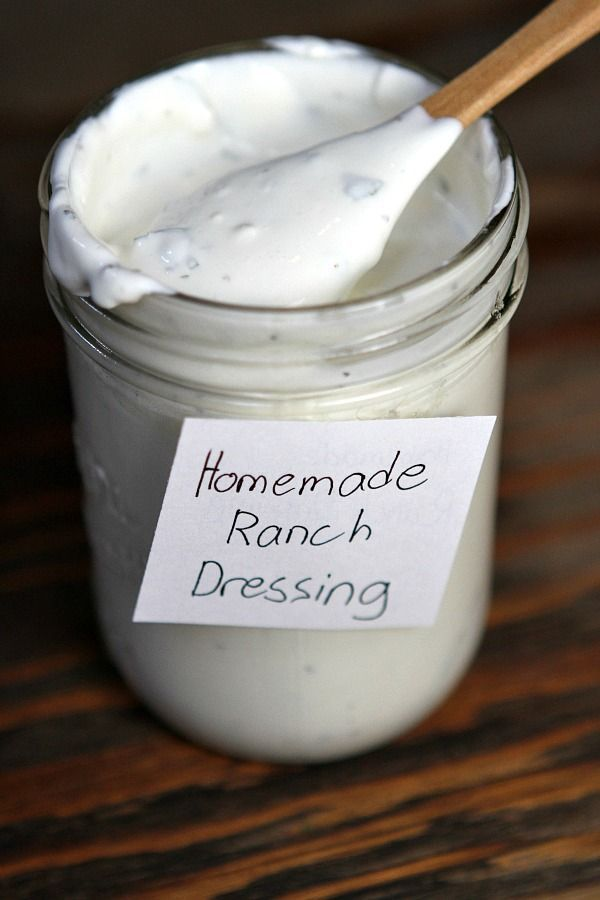 Homemade Ranch Dressing Recipe : tastes just like the Ranch Dressing ...