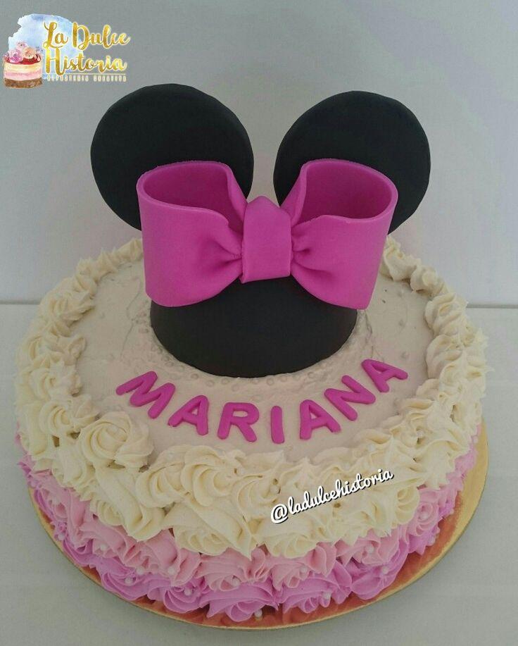 Torta rosada de Minnie en degradé