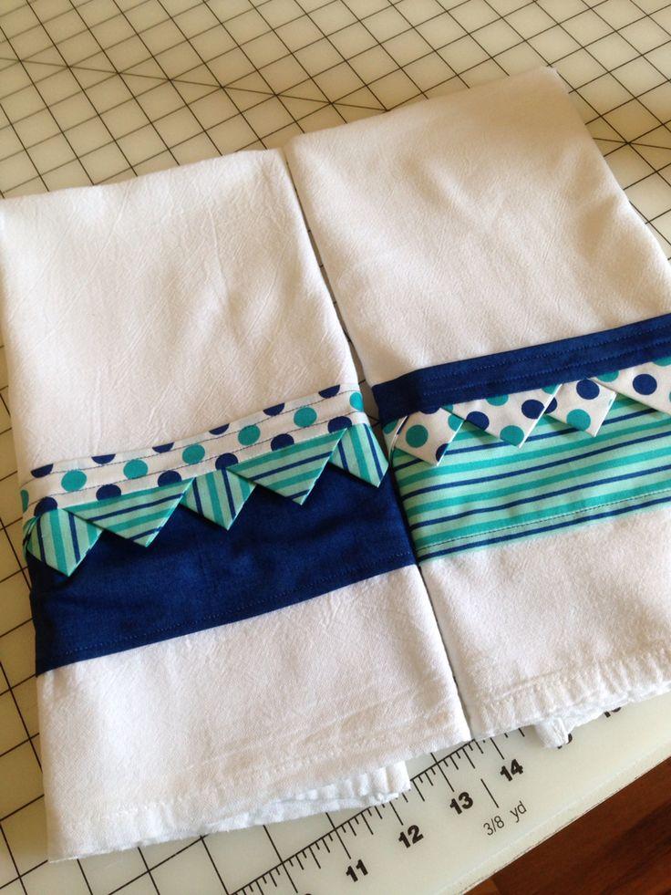 Three Fat Q tea towels