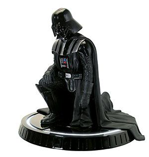 He's more polyresin now than man. Collectible and awesome. This 1/8th scale figure of Darth Vader bowing to Emperor Palpatine is perfect for any aspiring Sith Lord's collection.