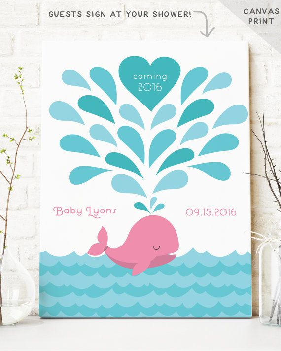 Baby Shower Guest Book Alternative Baby By MissDesignBerryInc