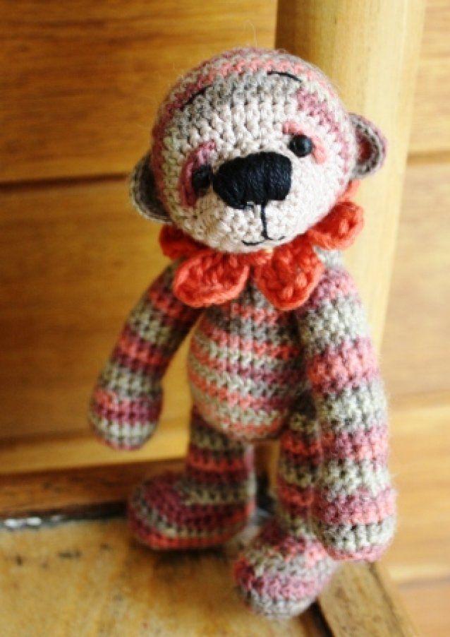 Benn a mini crochet bear 13.5cm SOLD