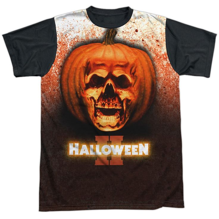 """Checkout our #LicensedGear products FREE SHIPPING + 10% OFF Coupon Code """"Official"""" Halloween Ii/pumpkin Skull - S/s Adult White Front Black Backt- Shirt - Halloween Ii/pumpkin Skull - S/s Adult White Front Black Backt- Shirt - Price: $24.99. Buy now at https://officiallylicensedgear.com/halloween-ii-pumpkin-skull-s-s-adult-white-front-black-backt-shirt-licensed"""