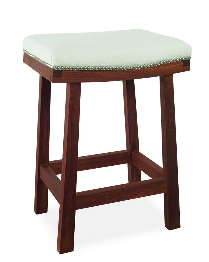 Lee Industries laurel outdoor counter stool in Spinnaker Salt