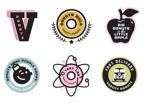 varsity donutsVarsity Donuts, Work Blog, Logo Design, Graphics Design, Brand, Donuts Rules, Matte Steven, Creative Direction
