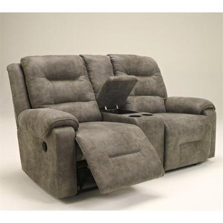 $753.00 (free ship) Signature Design by Ashley Furniture Rotation Double Microfiber Reclining Loveseat in Smoke - Walmart.com