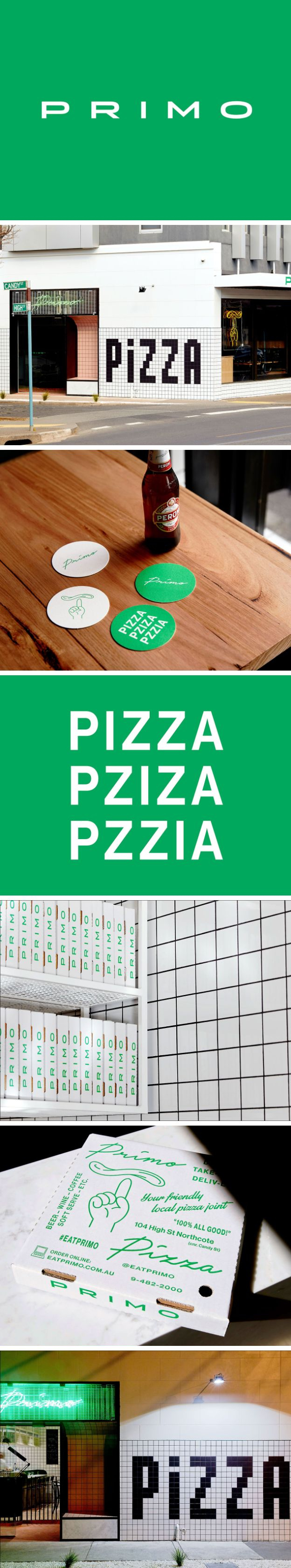 Brand Identity for Primo Pizza by Never Now