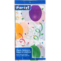 "Bulk Balloon-Design Plastic Table Cover, 54x96"" at DollarTree.com"