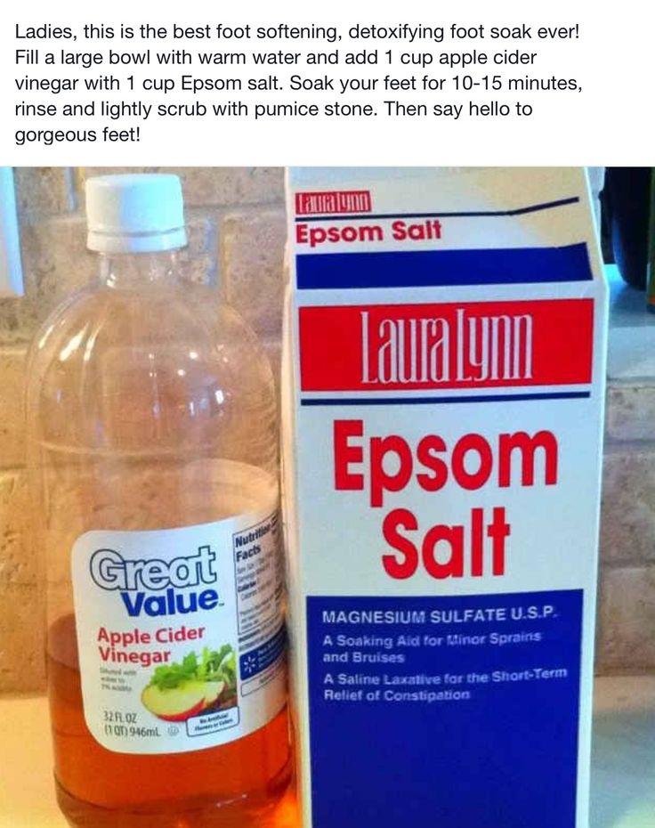 Epsom salt and vinegar