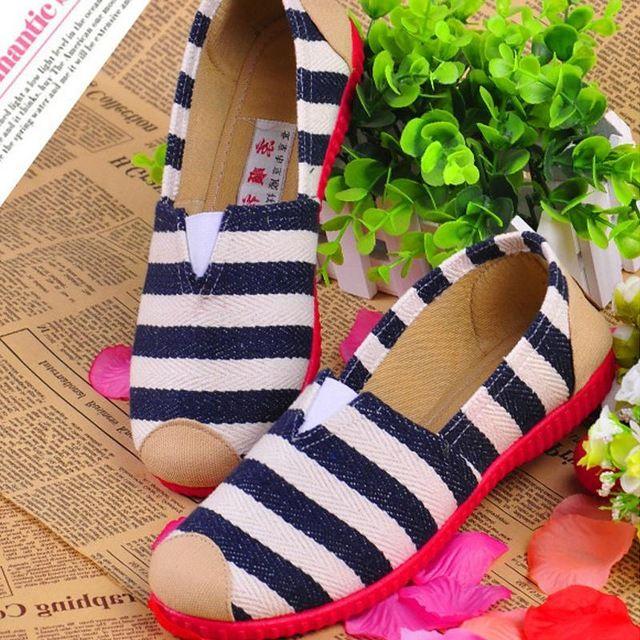 Новый бренд Женская мода квартиры холст мокасины обувь лето ленивый бездельник на Алиэкспресс русском языке рублях