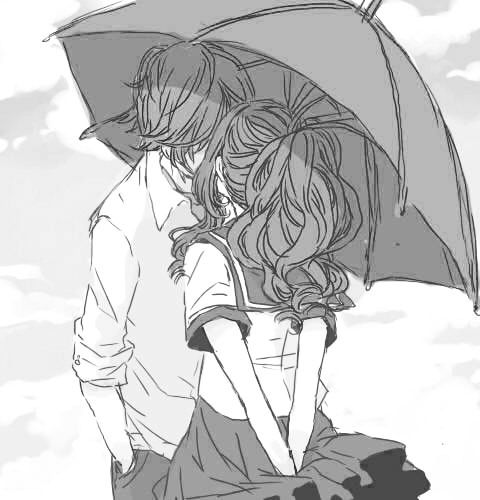 Rain romantic anime couplescute
