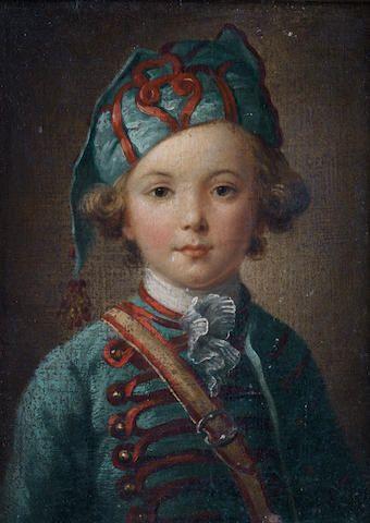 Circle of Antoine Pesne (Paris 1683-1757 Berlin) Study of a young boy, half-length,