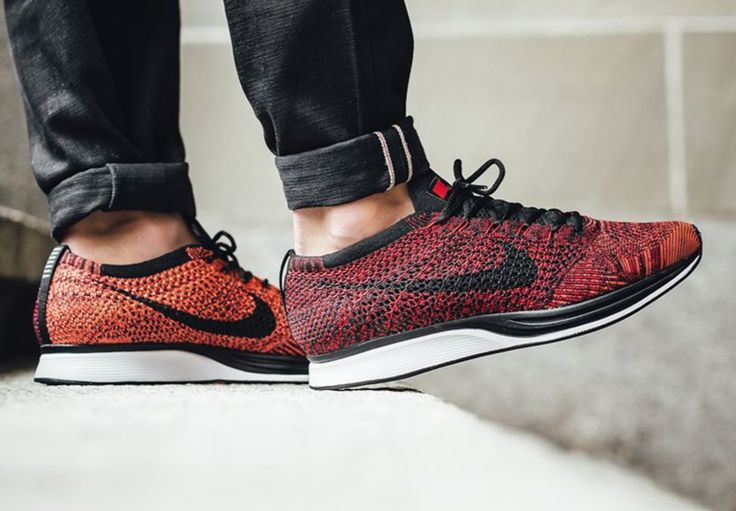Nike Flyknit Racer Fire Rooster Red Black White Multicolor Supreme 526628 608
