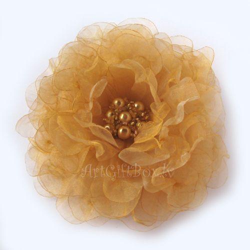 брошь-цветок ЗОЛОТЫЕ ПЕСКИ
