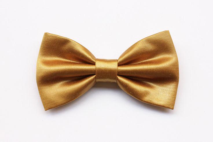Papillon color oro, farfallino per uomo, accessori matrimoni in oro, matrimonio primavera estate 2017,papillon oro per sposo,cerimonia 2017 di ScoccaPapillon su Etsy
